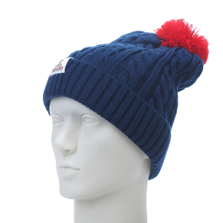 hot sale winter jacquard acrylic hat with pom