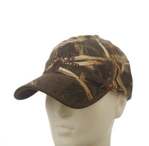 Camo Flat embroidery 6-panel Cotton Baseball cap