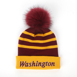 wholesale winter acrylic knit pom beanie