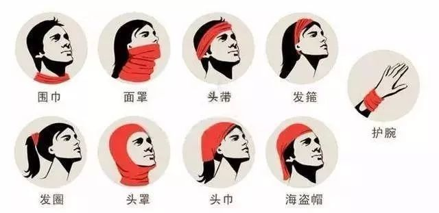 The multi-function of tube bandana