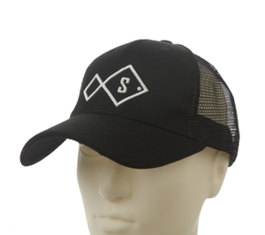 Black Embroidery Mesh Cotton Baseball cap for Summer