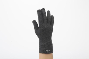 Fashion winter warm knit custom touch screen gloves with woven label